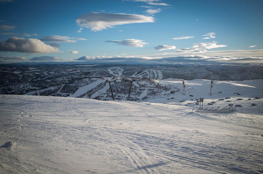 Nydelig utsikt over Geilos fjell og bakker. - © Eirik Aspaas