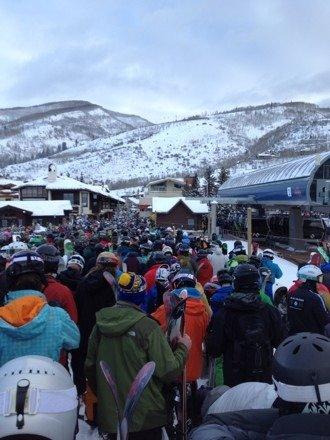 Worst crowds ever. Best snow ever.