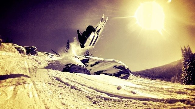 Epic cliff day. Bluesky had some great pow for stomping landings everywhere. Great base filling in!