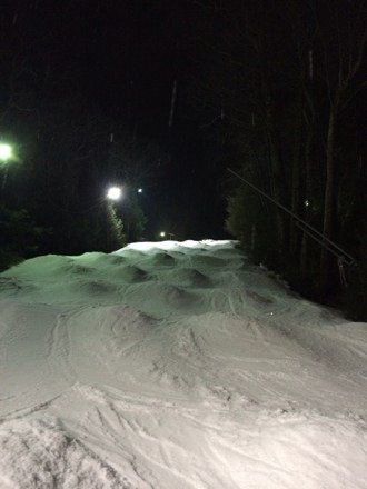 Skied Sundown Thursday night 1.16.14. Snow was very soft but decent considering it's all machine made. No lift lines, easy parking and only $36 6-10pm. Even found some little bumps see pic. Overall no complaints keep up the good work Sundown.