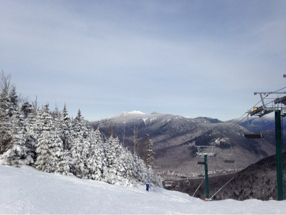 Lower flume was nice today. Some fresh snow and no tracks. Was light post mlk day.