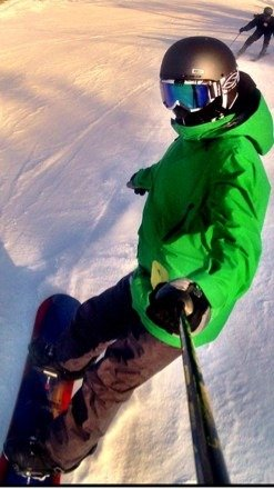 great day snowboarding today, perfect conditions