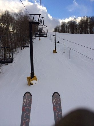 Better than expected.  Packed snow, no icy spots,  even found some powder.