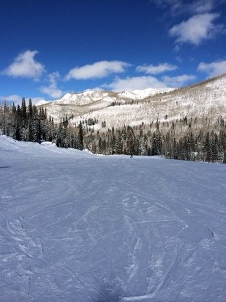 Gorgeous bluebird day today, no wind, no lines. Sharing is overrated.
