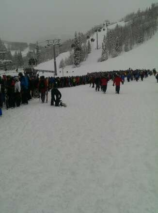 Breck will have lines like this today