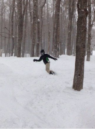 Hittin the glade with pow