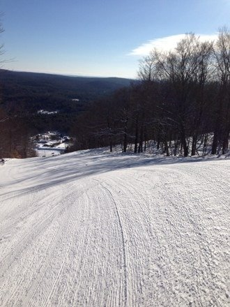 What a day - perfectly groomed and best skiing all year.