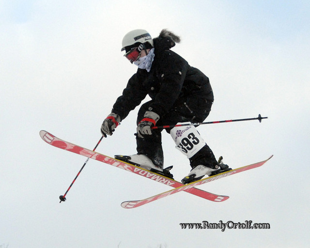 A skier gets big air at Snow Trails, Ohio