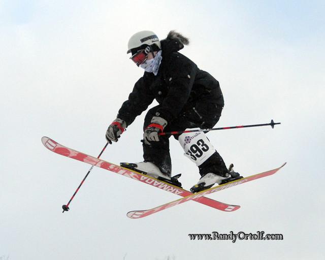 A skier gets big air at Snow Trails, Ohio