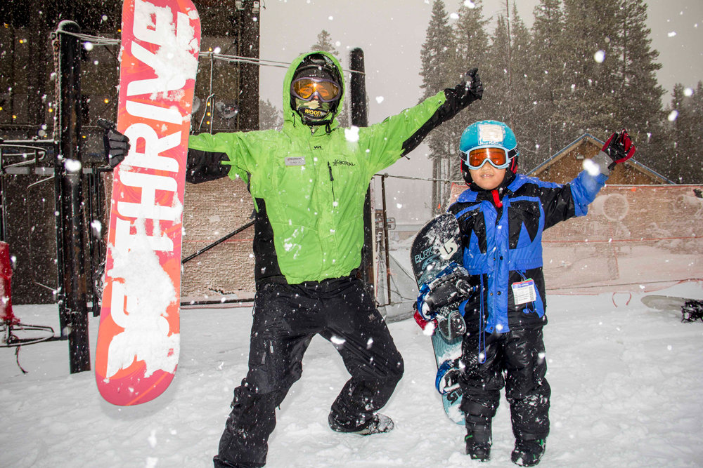 Guests taking advantage of the new snow up at Boreal Mountain this past weekend.  - © Boreal Resort