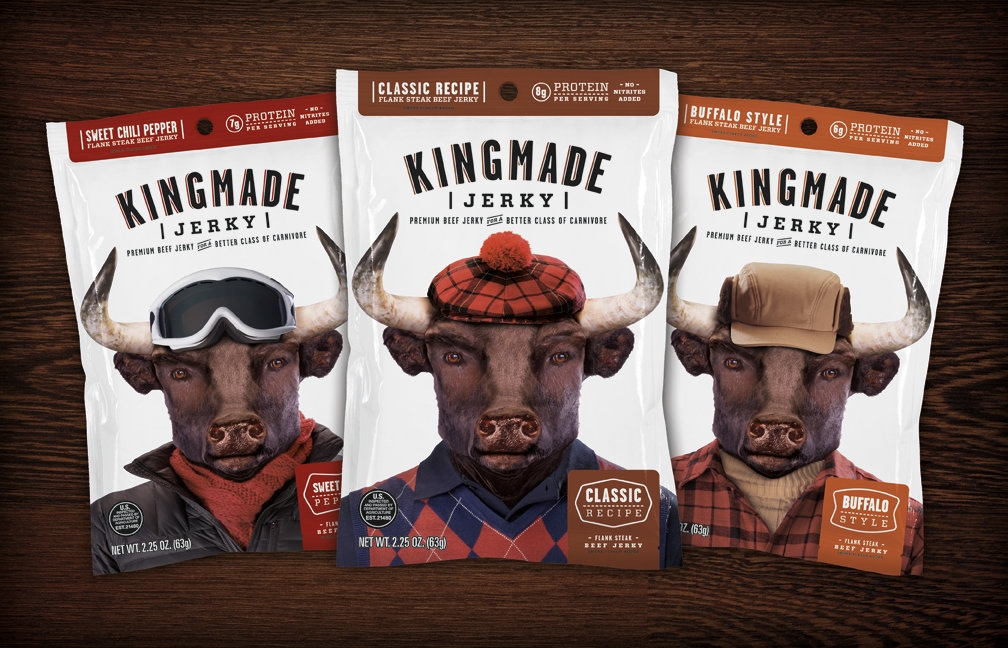 "Kingmade, a gentleman's jerky for ""active sophisticates."" - © Kingmade Beef Jerky"