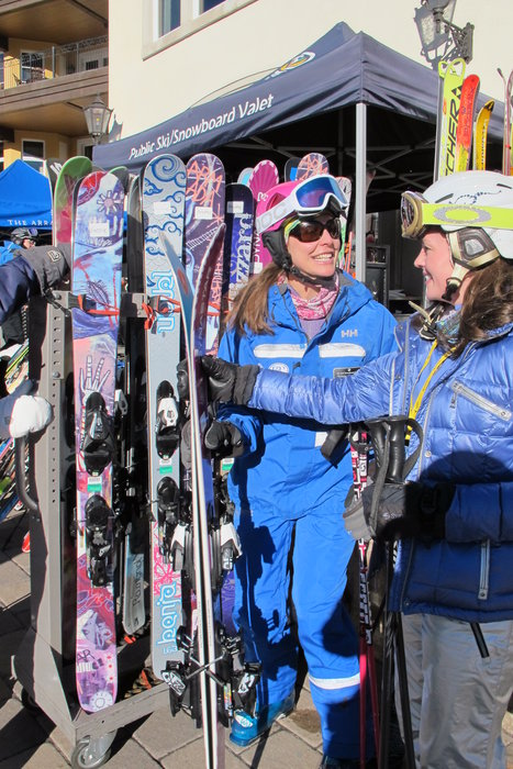 Our women's skis are all picked out and ready to demo. - © Heather B. Fried