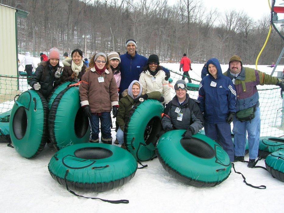 A group goes tubing at Whietail Resort, Pennsylvania