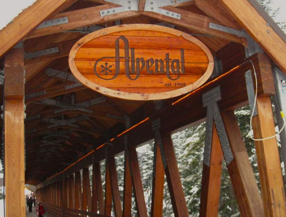 Entry to Alpental at the Summit at Snoqualmie is via a classic wooden footbridge. - © Becky Lomax
