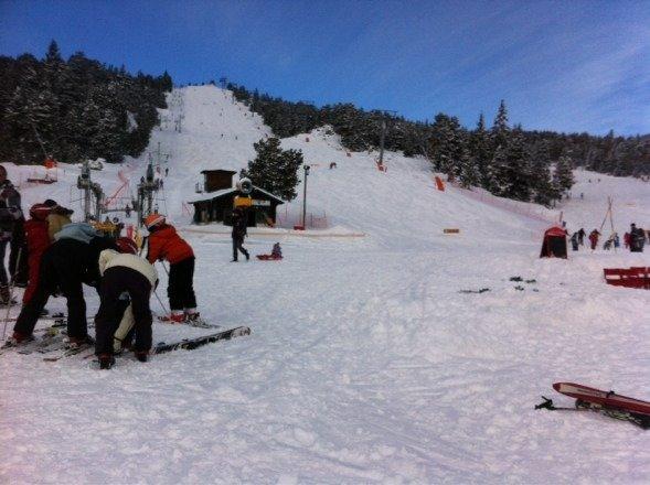 Super journée pour le ski, neige fraîche et abondante !