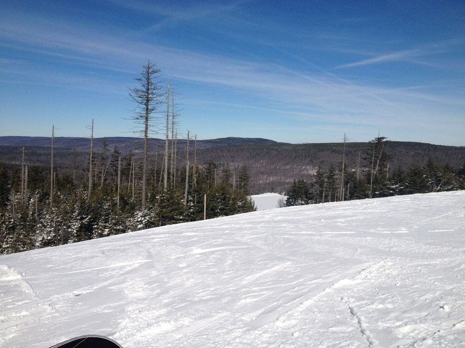 bluebird day all day, rode with no hat on, hardly any lines, beautiful!