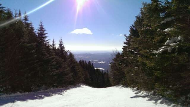 Skied 3/9. Amazing weather. Mountain was not too busy and snow was classic Vermont hardpack.