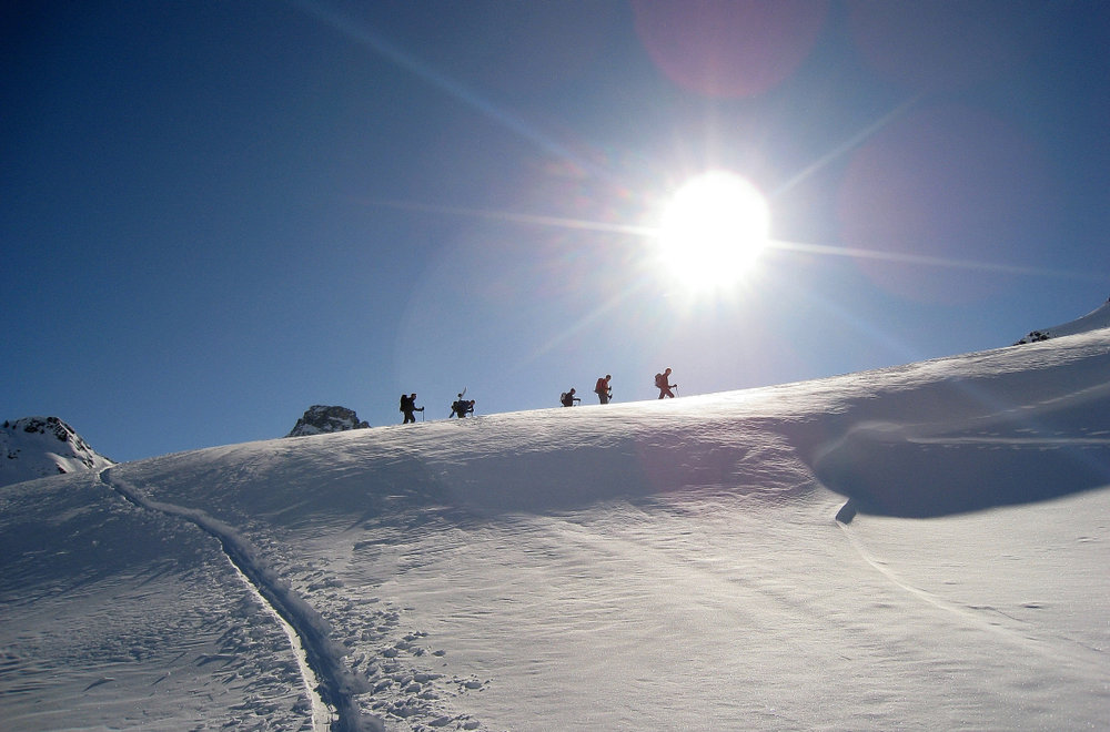 Toller Skitourentag in Vals - © Dominik Binder, Oberägeri