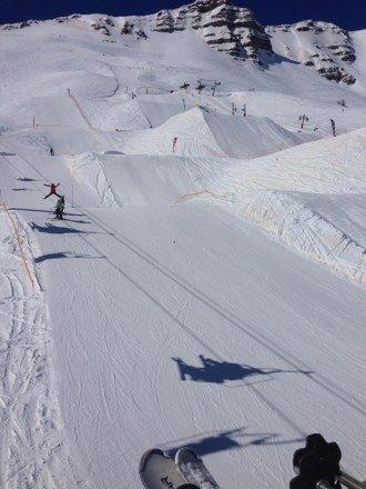 Le snow park un truc de ouffffff Une semaine de folie neige soleil la totale