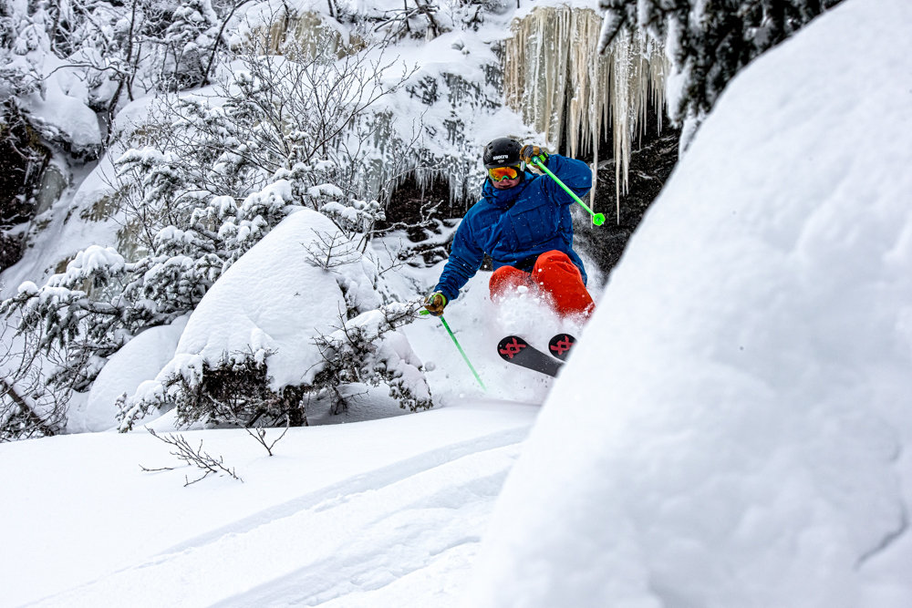 Stowe perfected! Skier Seth Morse. - ©Liam Doran