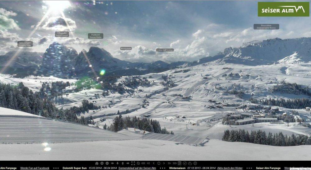 Alpe di Siusi - Ancora neve fresca! 24 Marzo 2014
