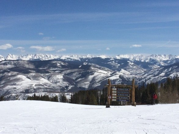 Bluebird today...trees off bachelor gulch were awesome