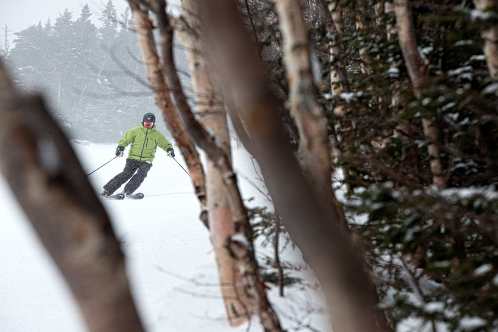 Dave Gould finding turns at Sugarbush. - © Liam Doran