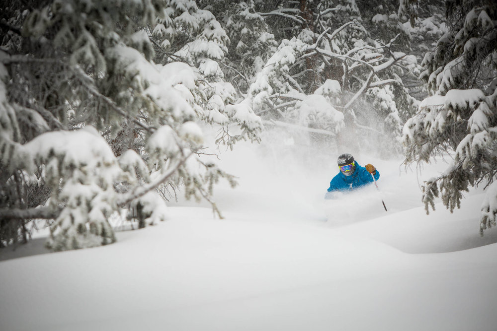 TJ David on another Aspen Mountain Powder Day. - ©Jeremy Swanson