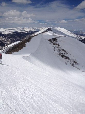 Still a lot of gnar to be shredded!  Top of Imperial Express, 4/18/14