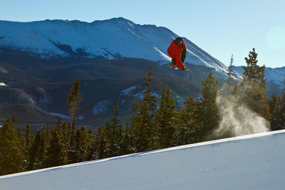 22-ft. superpipe in the Freeway Terrain Park. - © Breckenridge Ski Resort