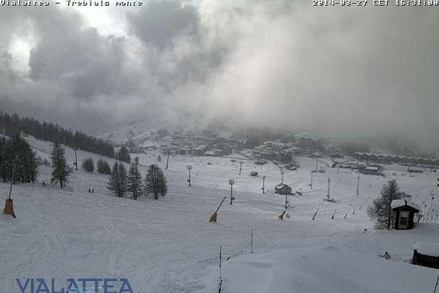 40cm of fresh snow in Sestriere, Italy today
