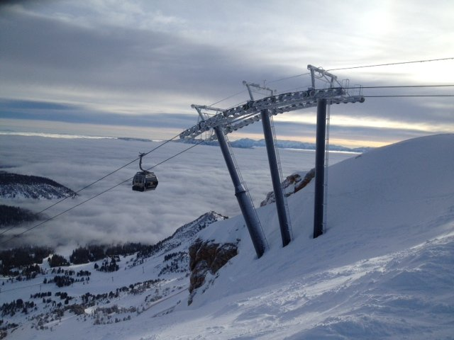 """Biggest storm in the past two seasons hit Mammoth over the past weekend with 54"""" total.  - © Mammoth Mountain"""