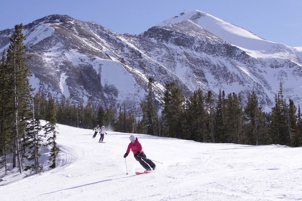 Horseshoe is a must-ski intermediate run at Big Sky. - © Lonnie Ball