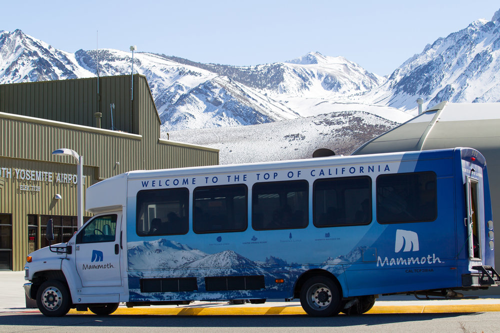 Mammoth's amazing shuttle system makes transportation around town and to/from the airport amazingly simple and easy. - © Cody Downard Photography