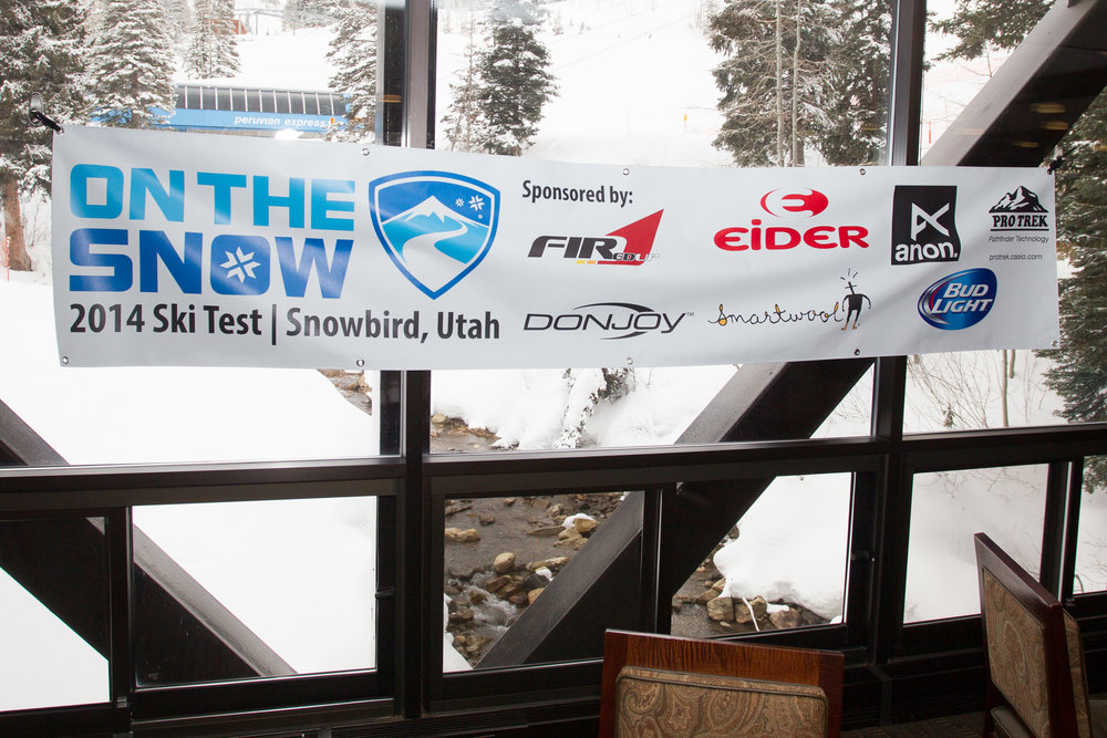 OnTheSnow Ski Test 2014/2015 Sponsors. - © Cody Downard Photography