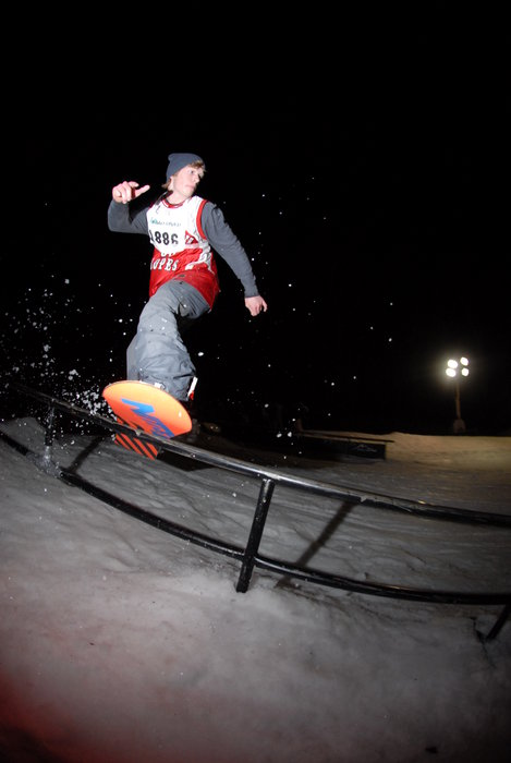 Louie Vito on rail at Mad River Mountain, OH
