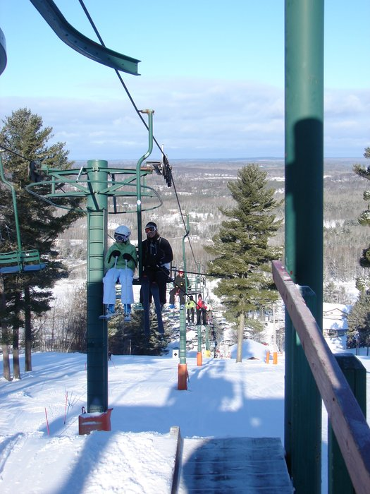 A chairlift at Pine Mountain, MI.