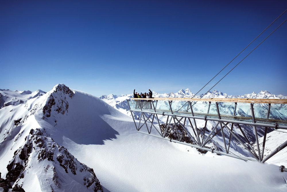 Vyhlídková lávka na ledovci Tiefenbach v Söldenu - © Soelden Tourismus