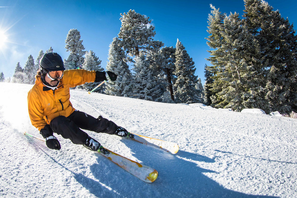 Snow Summit skiing in the San Bernardino Mountains. - © Peter Morning