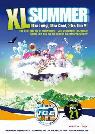Ice Mountain - ©XL Summer Ice Mountain | Snowfun @ Skiinfo Lounge