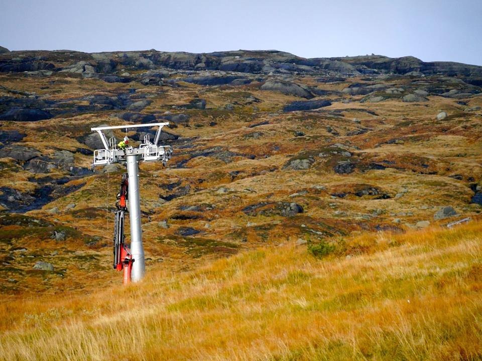 Mast 8 på Røldal ekspress 7/10-14 - © Pelle Gangeskar