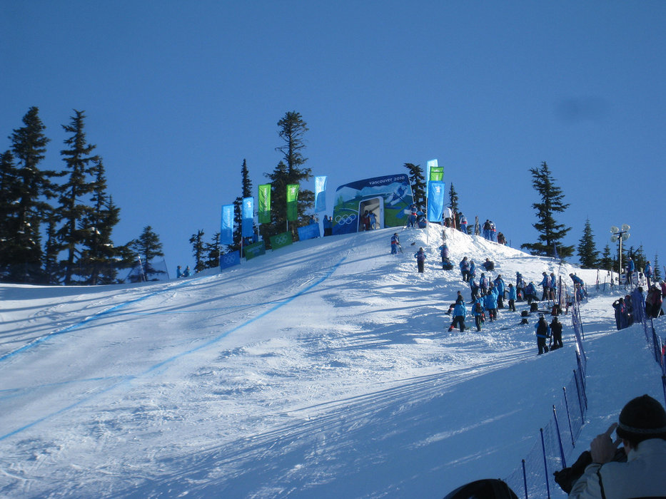Men's Downhill starting gate in Whistler for Vancouver 2010 Olympics - © vleitholf