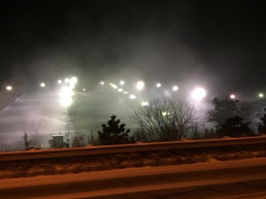 Making snow, amazing how many snow guns they have.  Opening Friday!