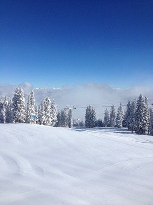I live on top of aspen mountain this is the view this morning almost 30 inches in this last storm. 8 inches last night