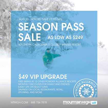 14/15 Season Pass Sale - © Mountain High