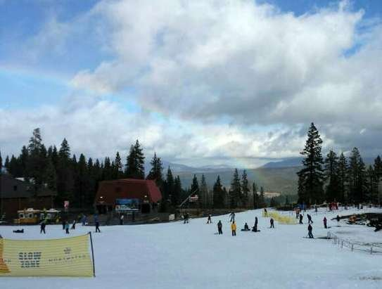2 lifts open, 2 runs. Everyone shut up about the conditions it's not even thanksgiving yet. plus I saw a rainbow. that was a first.