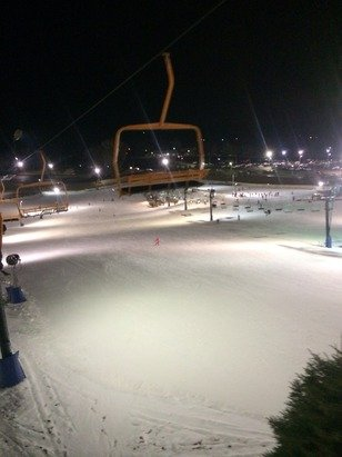 Keeping in mind that it is Mid November in Southern Indiana, conditions were great. Over 70% of the terrain had a solid snow base. Every run that was open had great snow coverage from side to side. We never waited longer than 5 minutes for a lift. Overall, we were very pleased and impressed