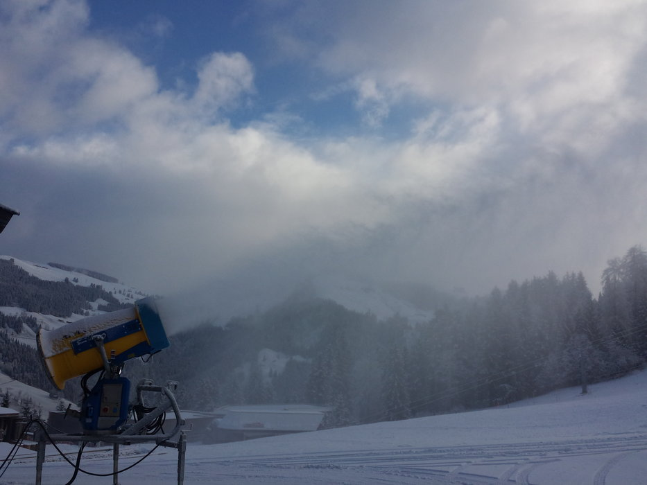 They started artificial snowmaking at SkiWelt - © SkiWelt Wilder Kaiser - Brixental