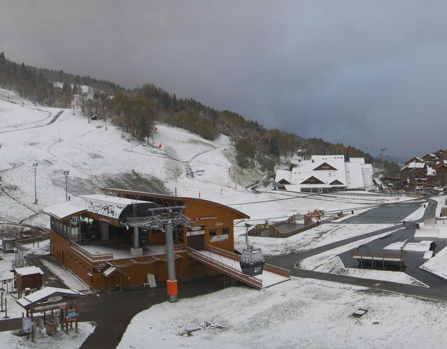 Meribel first snow Oct. 22, 2014
