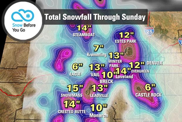 Snow Before you Go Forecast for November 12-16, 2014. - © Chris Tomer